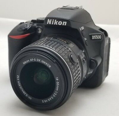 Nikon D5500 24.2Mp Digital Dslr Camera W/ 18-55Mm Vr Ii Lens ~ Usa ~ Sc: 1,741 ~