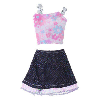 Baoblaze Doll Clothing Pink Top and Short Skirt for 11inch Doll Toys