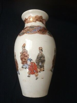 Antique Meiji Japanese Satsuma vase