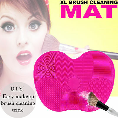 Makeup Cosmetic Brush Silicone Cleaner Scrubber Washing Cleaning Mat PAD XL L S