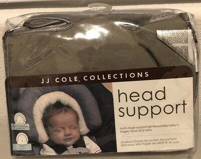 **NEW** JJ COLE  SIZE: PREEMIE / INFANT MULTI-STAGE  HEAD SUPPORT ~Gray