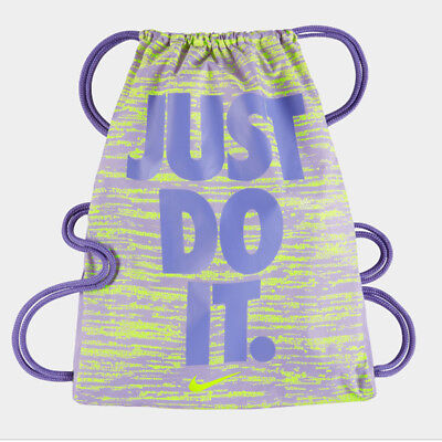 edf7d8287d NIKE JUST DO It. Graphic Drawstring Backpack School Gym Sport Kids ...