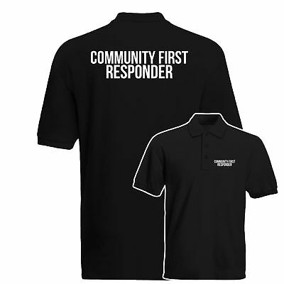 Community First Responder Polo Shirt, Medical Health Care Work Wear Polo Top