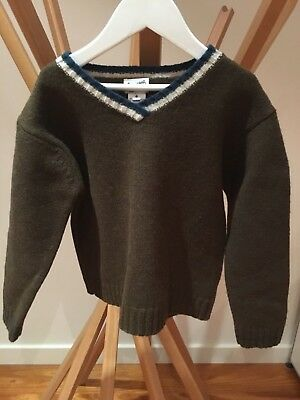 BONPOINT Paris Girls Boys khaki  Knit Sz 6