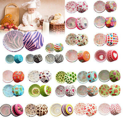 100pcs Colorful Paper Cake Cupcake Liner Case Wrapper Muffin Baking Party Cup