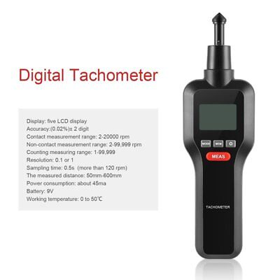 HT-522 Two in one Digital Tachometer Photoelectric for Motor Electric Fan Test T