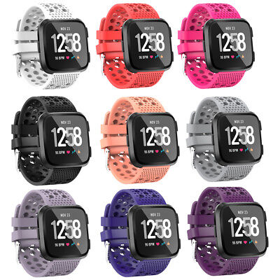 Replacement Silicone Sil Wrist Band Strap For Fitbit Versa Wristband Small Large