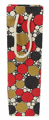Wine Bottle Bag Bubbles Printed Champagne Paper Pouch Gift Party Bottle Holder