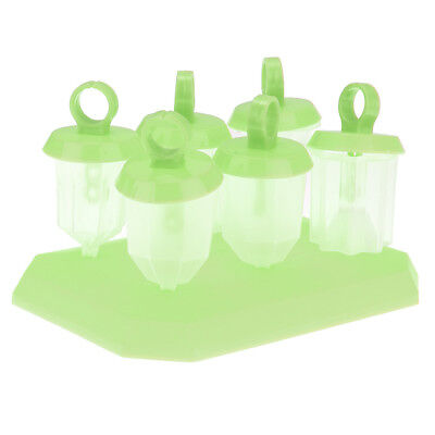 DIY 6 Cell Jelly Shape Ice Mould Ice Cream Popsicle Ice-Lolly Maker Green