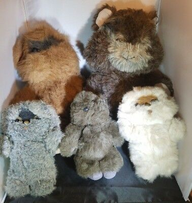 Kenner Ewok Paploo Star Wars Toy Plush Nippet Tours Wiley Wicket Lot Jedi