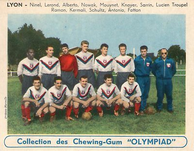 Rare Etat Neuf. Sports. Equipe Football. Chewing Gum Olympiad. (1955) Lyon