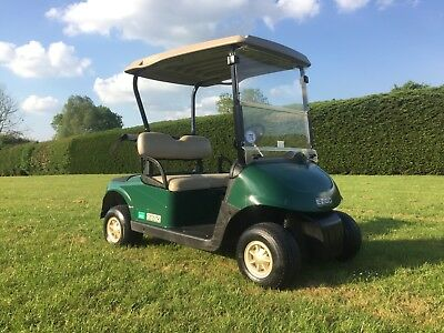 1 of 2 EZGO Golf Cart With Petrol Engine in Hunter Green NO VAT!!!