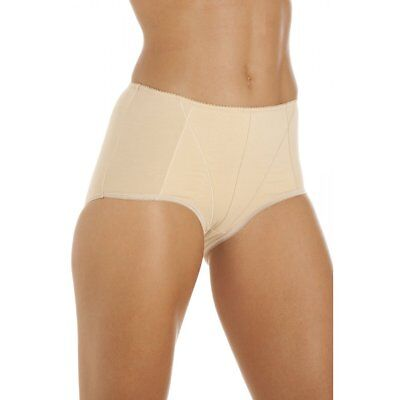 Camille Womens Ladies Beige Cotton Control Shapewear Underwear Briefs