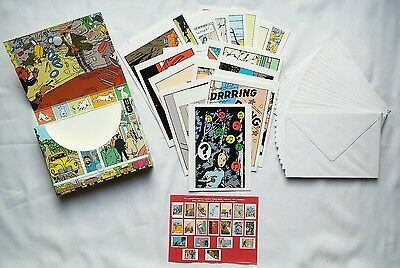 COMICS - Set 20 map & envelope TINTIN and MILOU / 2002 / HERGE / MOULINSART