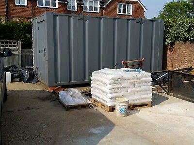 18ft shipping container in grey