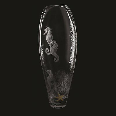 Dartington Crystal Tall Large Seahorse Glass Vase Wedding Home Party