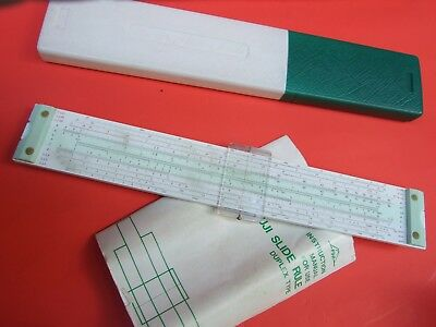 Vintage Fuji Slide Rule Duplex Type W Box Instruction Book -  Japan