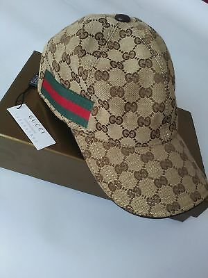 NEW GUCCI HAT Khaki ,MEN'SWOMEN,CANVAS BASEBALL CAP,ADJUSTABLE,SIZE M