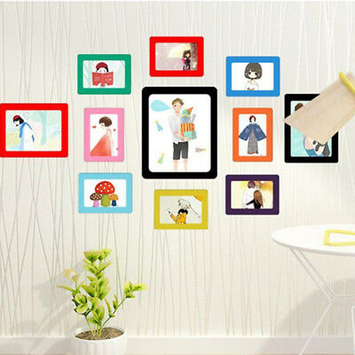Photograph Frame Picture Frames Fashion Magnetic Magnet Decor Pattern Gift
