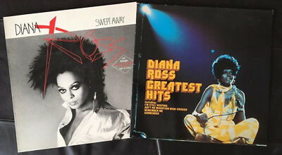 "Diana Ross 2 x  Vinyl 12"" Swept Away & Greatest Hits"