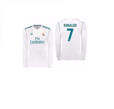 Adult XL Real Madrid Home Shirt LS 17-18With RONLDO 7 RM2