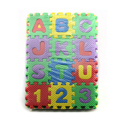 36 pcs Puzzle Blocks Educational Blocks Alphanumeric for Baby for Kids for E0W9Y