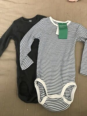 Two H&m Baby Bodysuits