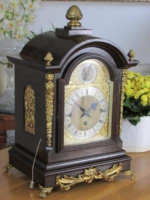ANTIQUE TRIPLE FUSEE BRACKET CLOCK musical chimes GORGEOUS ORMOLU MOUNTS by W&H