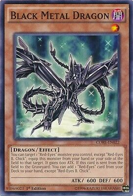 3 x Black Metal Dragon (CORE-EN022) - Common - Near Mint - 1st Edition