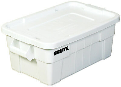 """Brute Totes with Lid 28"""" x 18"""" x 11"""" White 1/Each RUB116"""