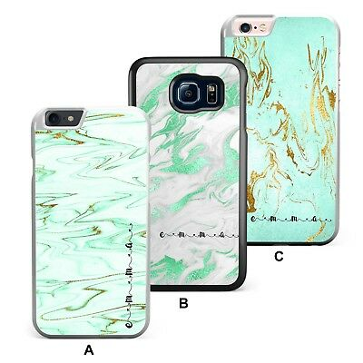 241c6e51e Personalised Phone Case Name Initial Mint Green Marble Cover Faux Gold  Glitter
