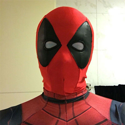 Anime Deadpool Cosplay Costume Full Face Stretch Mask Shield Halloween Party Cos