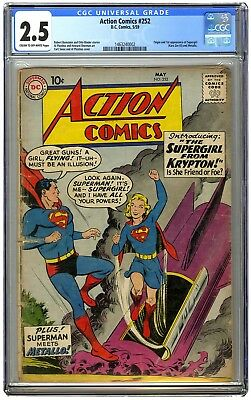 Action Comics #252 CGC 2.5 First Appearance of Supergirl & Metallo; Good Plus