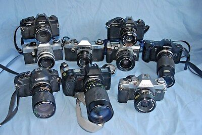 #d7 Joblot Of Cameras And Lenses