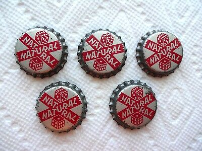 5 Carter's Natural Seven Soda Bottle Caps Unused Cork Lined From Middletown Ohio