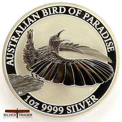 2018 Australian Bird of Paradise 1 oz Victorian Riflebird Silver Bullion Coin