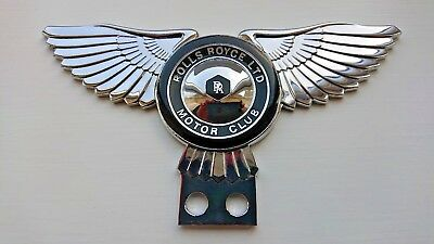 RARE ROLLS ROYCE MOTOR CAR CLUB Wing Cloisonne ENAMEL GRILL BADGE New condition