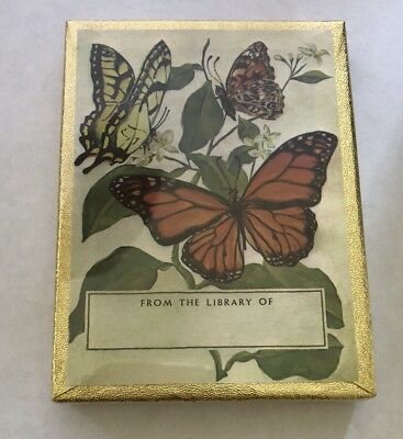 Vintage Antioch Bookplate Sealed Box Of 50 Butterflies NEW SEALED