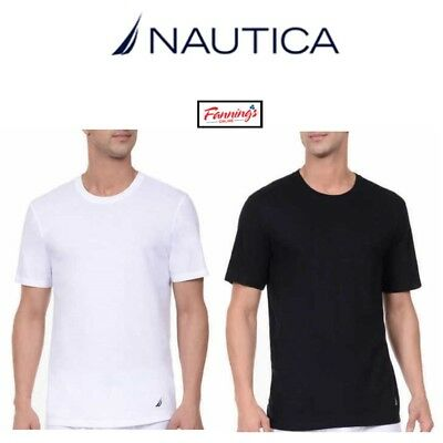 SALE Nautica Men's 3-Pack Tagless Soft Cotton Stretch Crew Neck T-Shirts VARIETY