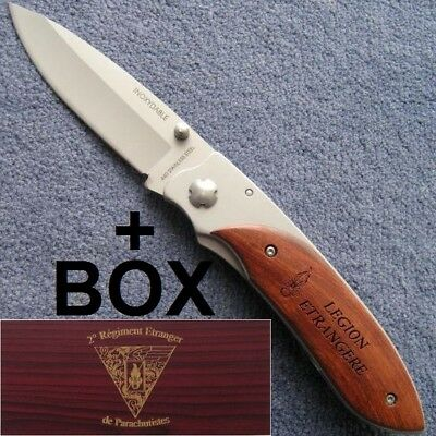 FRENCH FOREIGN LEGION ETRANGERE COUTEAU SOUVENIR + BOX 2nd REP LENGTH BLADE 3 in