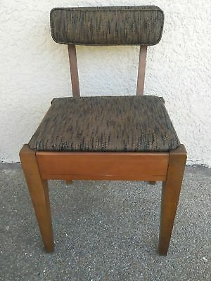 RARE Vintage Singer Sewing Cabinet Bench Seat comes with insert for attachments