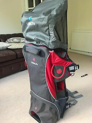 Littlelife Cross Country S2 Baby/Child Carrier BackpackSun Canopy & Rain Cover
