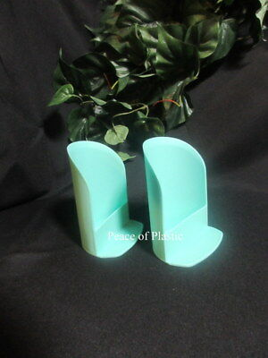 Tupperware NEW 2-Round Mint Green ROCKER SCOOPS, FLOUR Sugar Canister SCOOP