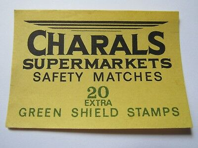 Charals Safety Matches Green Shild Stamps