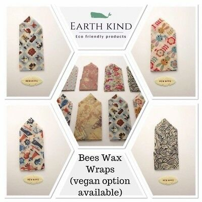 Zero Waste Antibacterial bees wax food wrap eco friendly Reusable Sandwich Bag