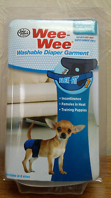 Four Paws Wee Wee Washable Diaper Garment, XX-Small