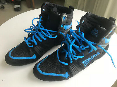 Lonsdale Boxing Boots Size UK 8, Euro 42, Black/Royal Stormbox 20