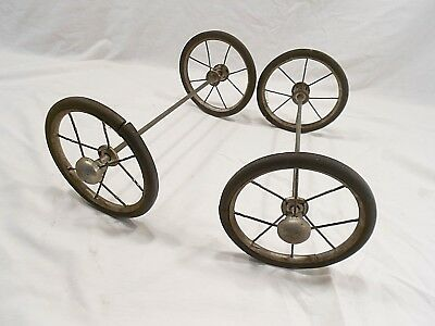 Vintage Carriage/buggy/stroller Spoke Wheels And Axles