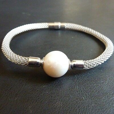 IPS (Imperial Pearl Syndicate) Sterling Silver.925 and Large Pearl Bracelet