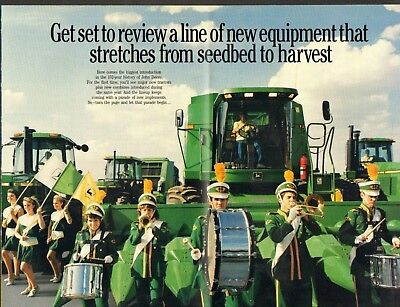 1989 Print Brochure 8 Page Ad of John Deere 4455 2955 8960 & 9500 Farm Tractor
